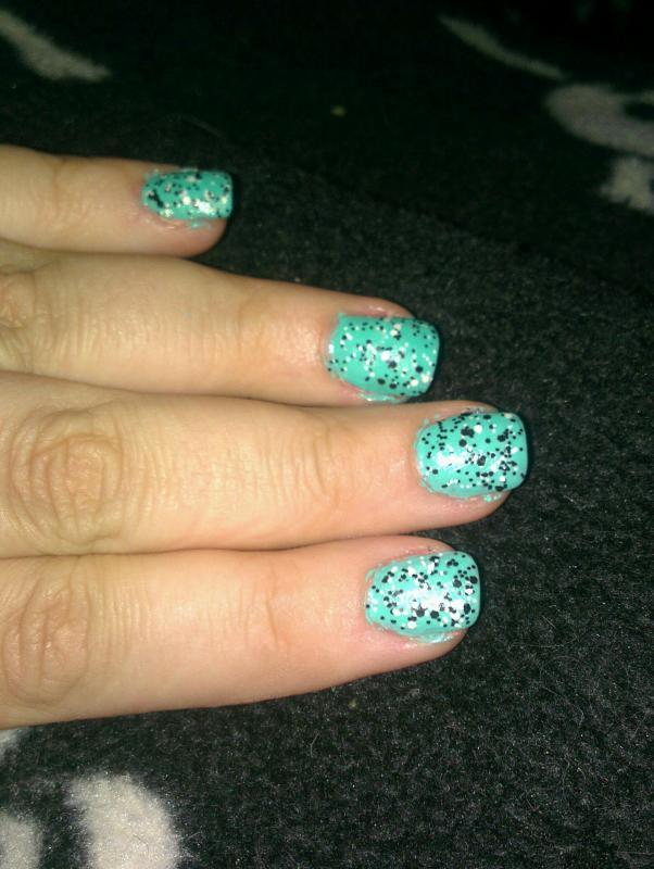 Speckly jade nails
