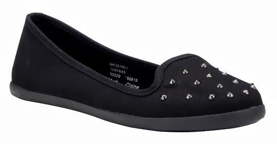 Tesco F+F Studded slipper flats