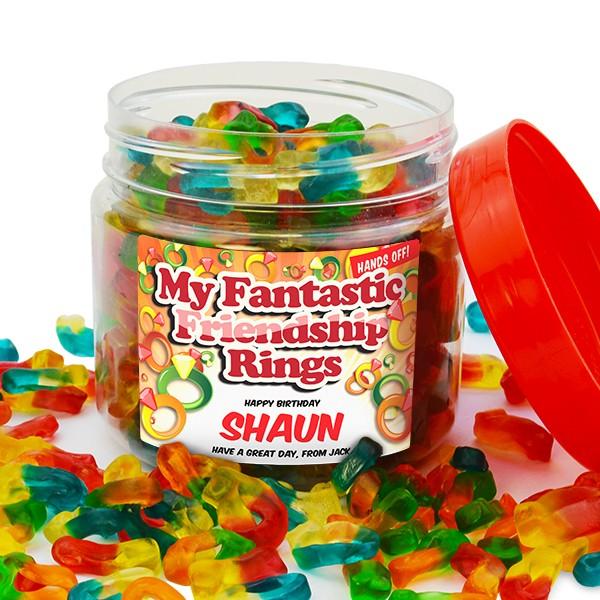 Retro Sweet Friendship Ring Jar