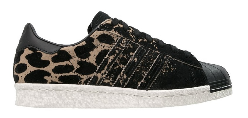 adidas superstar 80s black leopard