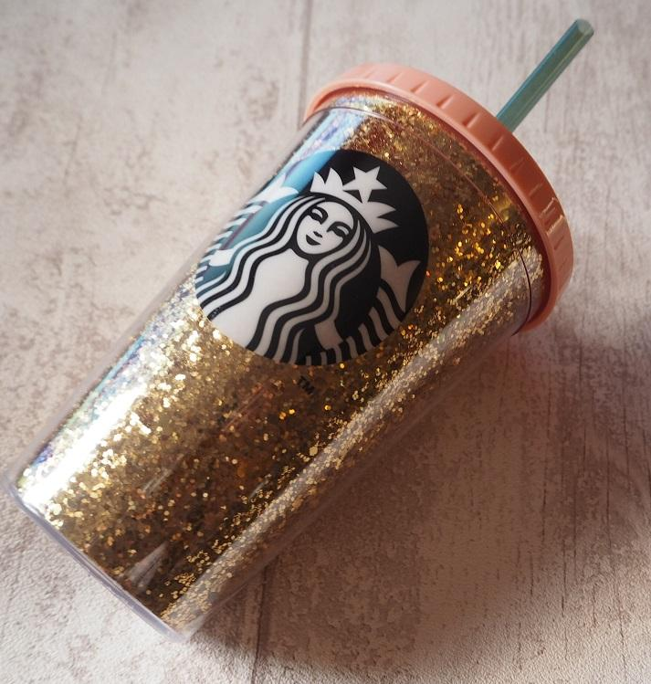 Starbucks Gold Glitter Cold Cup