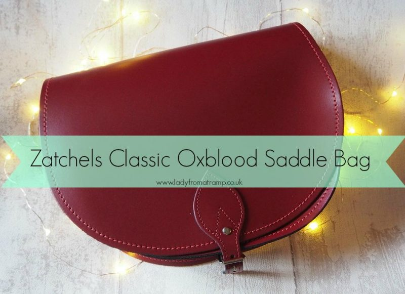 Zatchels Classic Oxblood Saddle Bag