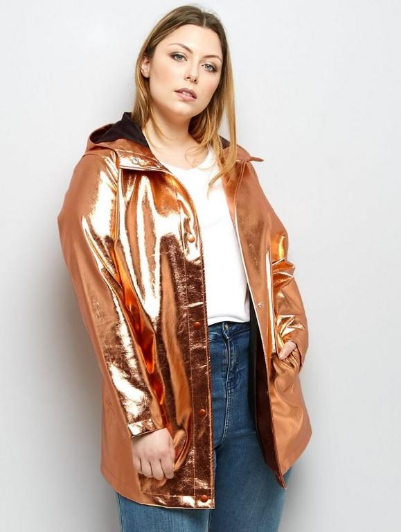 New Look Curve Rose Gold Anorak