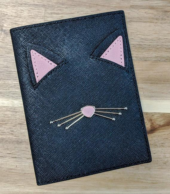 Kate Spade Cats Meow Passport Holder