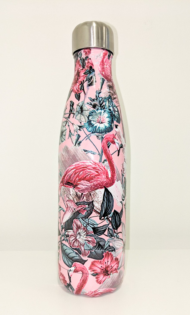 Chillys Water Bottle Tropical Flamingo 500mll
