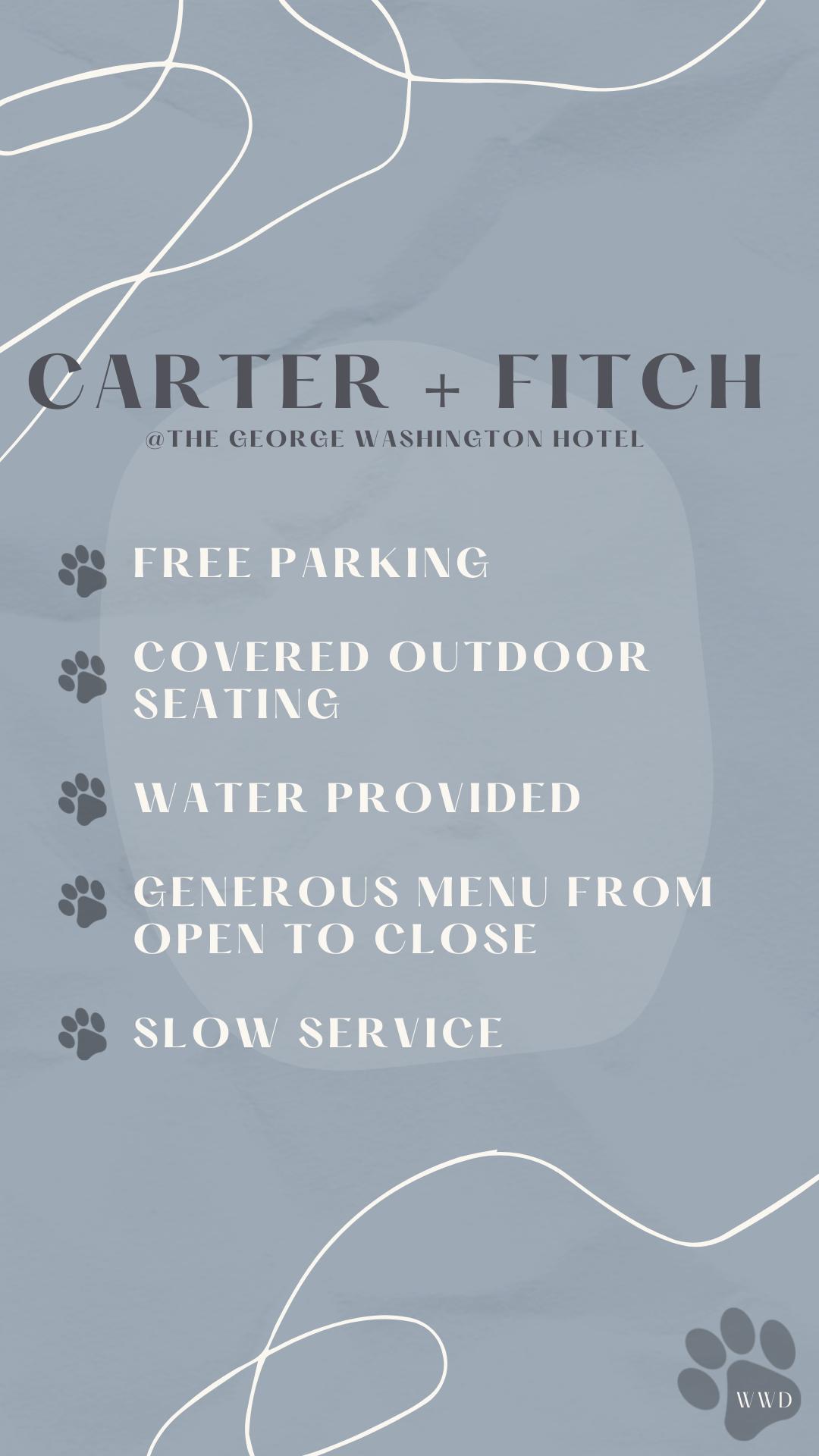 Carter + Fitch, Washington – Dog Friendly